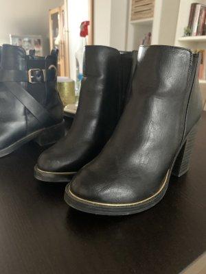New Look Wysokie buty na obcasie czarny