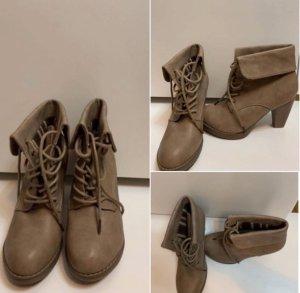 Schuhe mit Absatz braun Größe 39