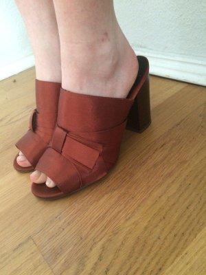 Catwalk Heel Pantolettes russet-dark orange
