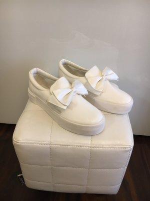 Schuhe  mit Bogen Weiß