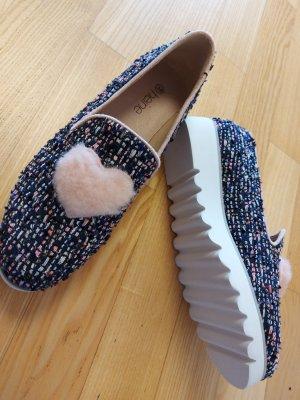 Heine Slip-on Shoes blue-light pink