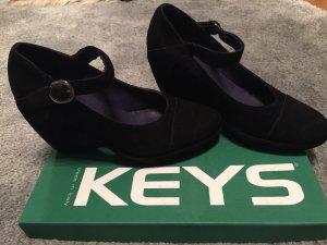 Keys Zapatos Mary Jane negro Cuero