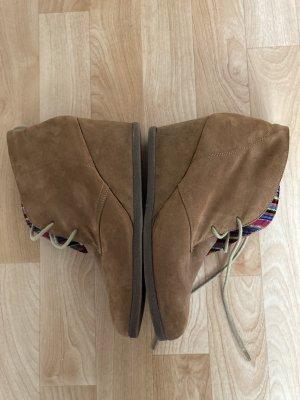 C&A Wedge Booties grey brown-brown