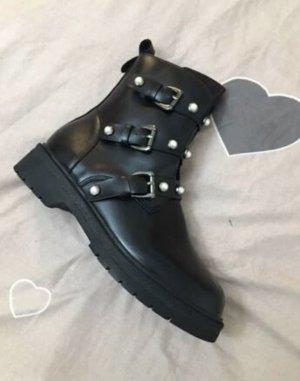 100% Fashion Botas bajas negro