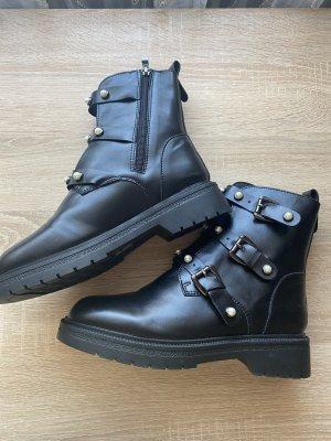 100% Fashion Botte courte noir