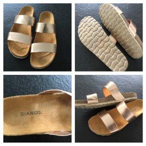 Comfortabele sandalen beige-zilver