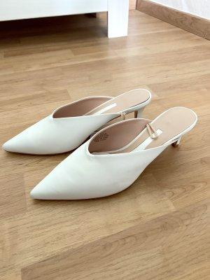H&M Sandalo con tacco bianco