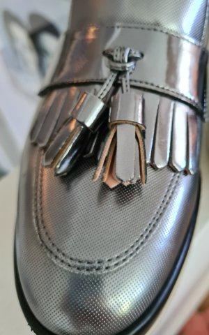 Pollini Sneakers met hak zilver-lichtgrijs