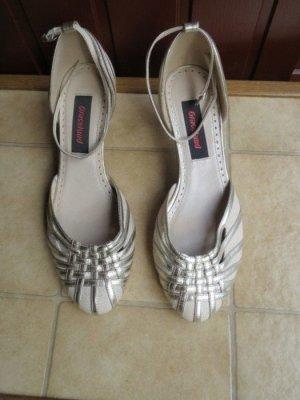 Schuhe, Pumps, Gr.37, Leinen