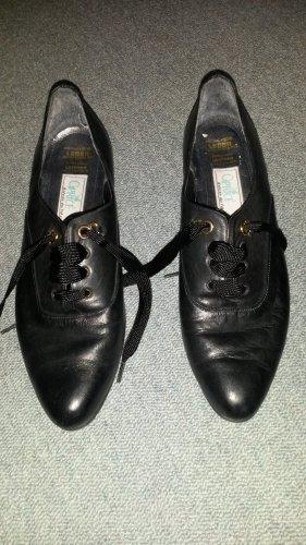 Schuhe, Pumps, Leder, schwarz