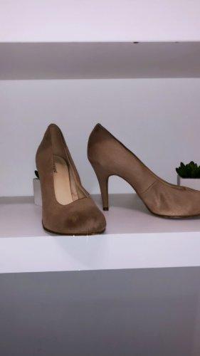 Schuhe Pumps rose beige high heels vintage boho