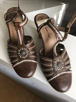 Tamaris Slingback Pumps brown-dark brown