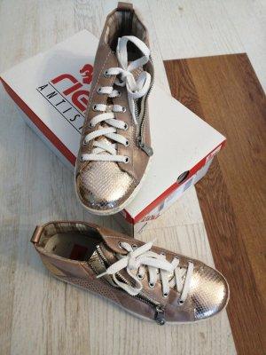 Rieker Zapatos brogue color bronce-color rosa dorado