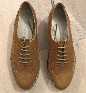 Schuhe River Island Lederschuhe Oxford Sommerschuhe Brogue Schuhe Braune Schuhe Veloursleder