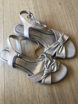 Schuhe Sandalen beige gold Gr. 39