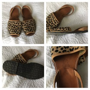 Espadrille Sandals black-light brown leather