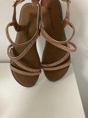 Claudia Ghazzani Outdoor Sandals camel-light pink