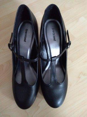 Schuhe schwarz mit Riemchen