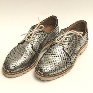 Schuhe Silber Reptil