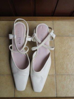 Schuhe, Slingbacks, Gr.37, weiß-creme