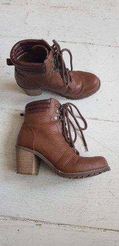 Schuhe, Stiefeletten, Absatz Boots 39