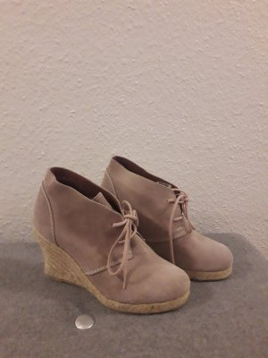Görtz Shoes Bottine à talon compensé multicolore