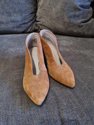 Schuhe Stiefeletten Leder Gr.38 NEU