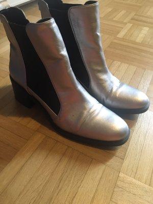 Zara Basic Bottines à enfiler argenté-noir