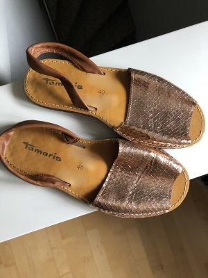 Tamaris Espadrille Sandals bronze-colored