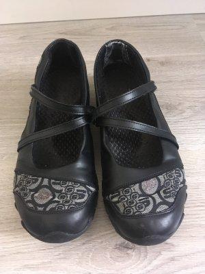 Skechers Ballerina's met bandjes zwart-zilver