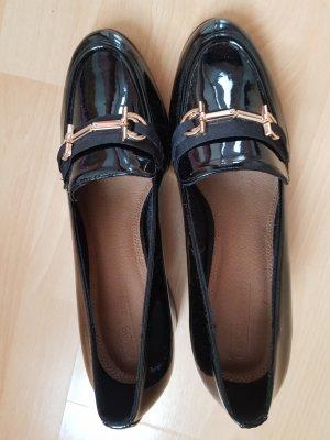 Asos Zapatos formales sin cordones negro-color oro