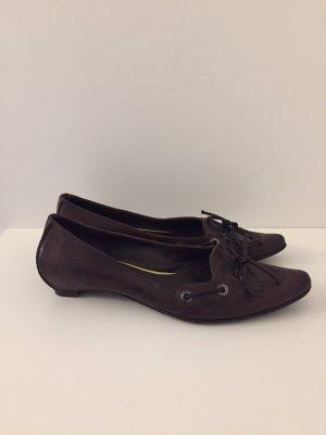 Bottega Veneta Bailarinas con punta marrón-negro-marrón oscuro