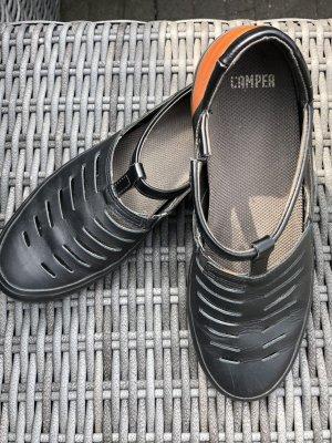 Camper Slip-on Shoes black-cognac-coloured leather