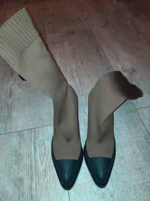 Chloé Stretch Boots bronze-colored