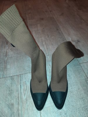 Chloé Botas elásticas color bronce