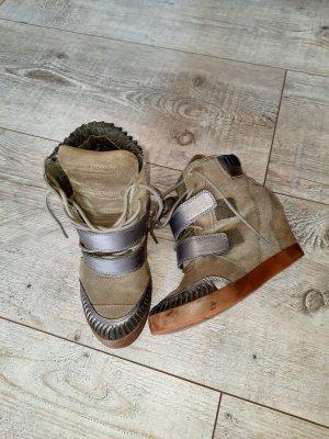 Diesel Heel Sneakers green grey