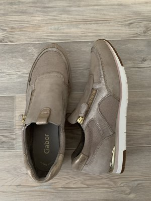 Gabor Slip-on Sneakers grey brown-gold-colored