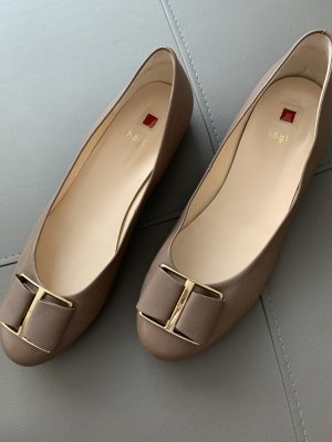 Högl Peep Toe Ballerinas light brown