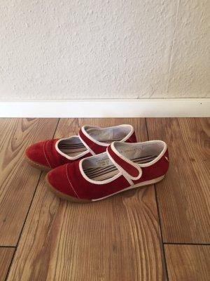 Josef seibel Strappy Ballerinas dark red-natural white