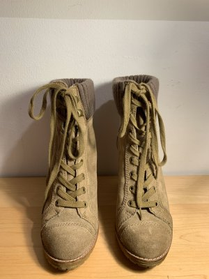 Patrizia Pepe Lace-up Booties beige-camel