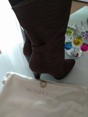 Peter Kaiser Halfhoge laarzen grijs-bruin Leer