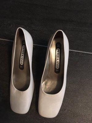 Peter Kaiser Zapatos estilo Oxford blanco-gris oscuro