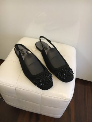 Zara Basic Bailarinas con tacón Mary Jane negro