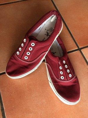 Schuhe weinrot weiß, Gr. 37, Atmosphere