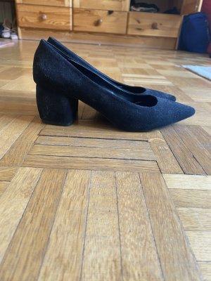 Bershka Escarpins classiques  noir tissu mixte