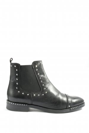 Schuhengel Booties, Kurz-Stiefel, schwarz, Leder
