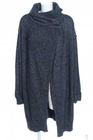 Schuhmacher Cardigan blau Business-Look