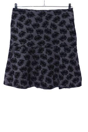 Schuhmacher High Waist Skirt light grey-black allover print casual look