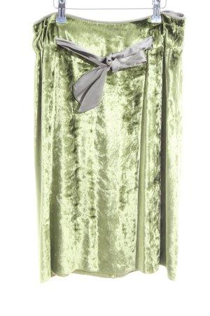 Schuhmacher Midirock grün-hellgrau extravaganter Stil