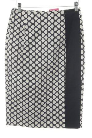 Schuhmacher Spódnica midi jasnobeżowy-czarny Łączone wzory